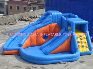 Porcellana Parco di divertimenti gonfiabile rosa con mini principessa Bouncer Castle With Slide fabbrica