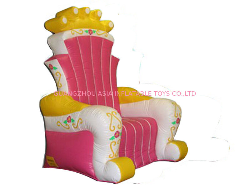 Re gonfiabile mescolante caldo Chair Sofa For Advertizing della tela cerata del PVC di rosa 0.9mm fornitore