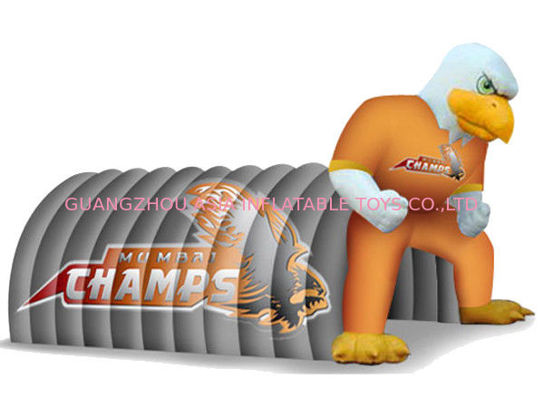 Fantasy Inflatable Entrance Tunnel With Eagle Mascot For Sports Event