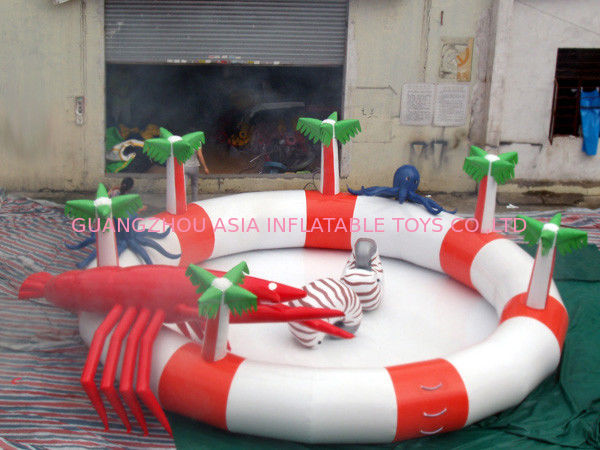 Sea Animals Theme Water Park Kids Inflatable Pool for Homeusing