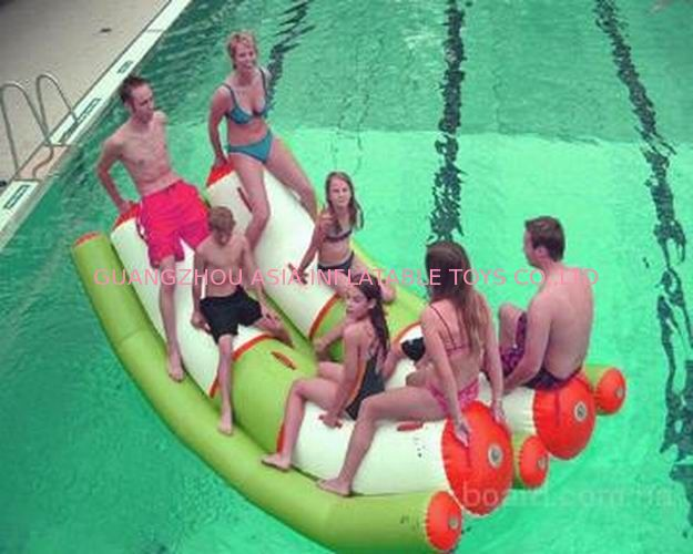 Interesting Inflatable Water Sports , Adult Seesaw Pool Float