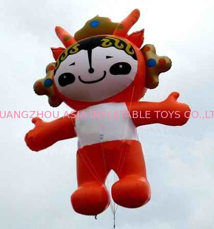 Attractive inflatable fuwa balloon with pvc material