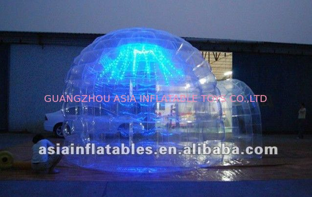 Transparent Igloo Advertising Tent with LED Light